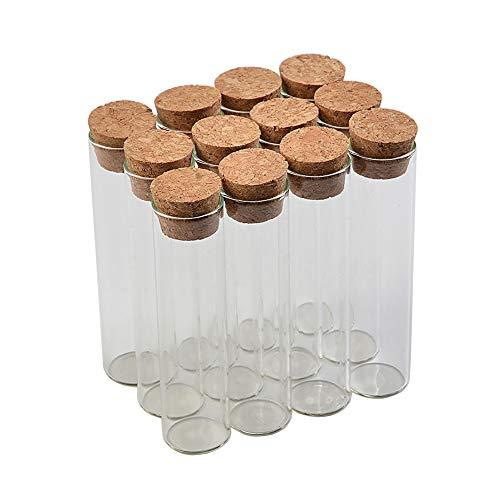 22120mm 30ml Empty Glass Transparent Clear Bottles with Cork Stopper Glass Vials Jars Storage Bottles Test Tube Jars 24pcs (24, 30ml)