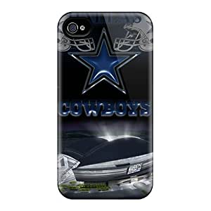Durable Defender Case For Iphone 4/4s Tpu Cover(dallas Cowboys 2)