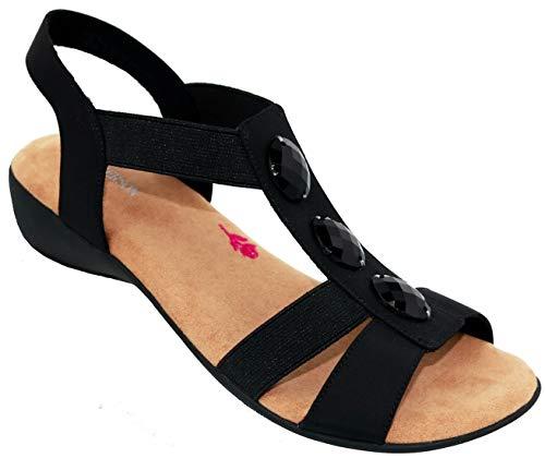 Ros Hommerson Mackenzie 67021 Women's Casual Sandal: Black 12 Wide (D) Slip-On
