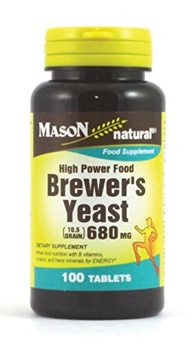 MASON NATURAL, Brewers Yeast 680 mg Tablets, 100 Count