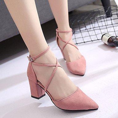 Tacón Cms Pink Sandalias 7'5 Confort Rosa Lvyuan Gris Robusto Mujer Pu Blushing 9'5 Verano ggx Negro qOxZAgY