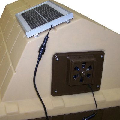 Dog Palace Breeze Solar Powered Exhaust Fan - Small