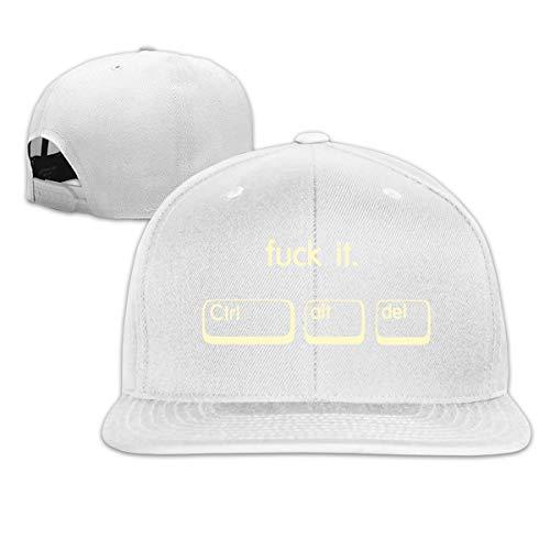 (ONE-HEART HR Baseball Cap Fuck It Keyboard Adjustable Custom Flat Peaked Hat Unisex)