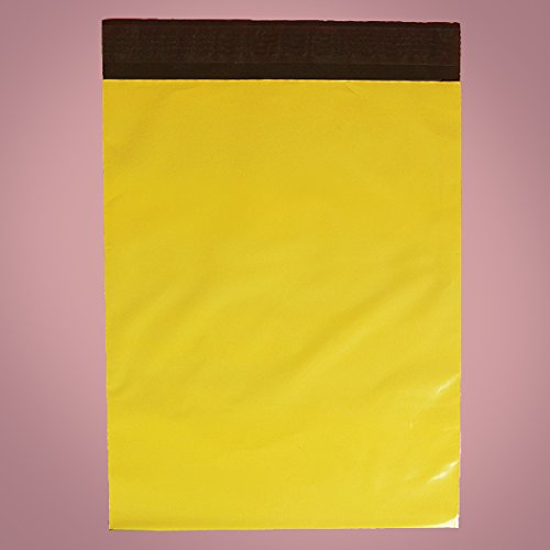 Plastic Colored Yellow Polyethylene Mailers 10'' X 13'' - Padded Mailers - 50 each by Paper Mart