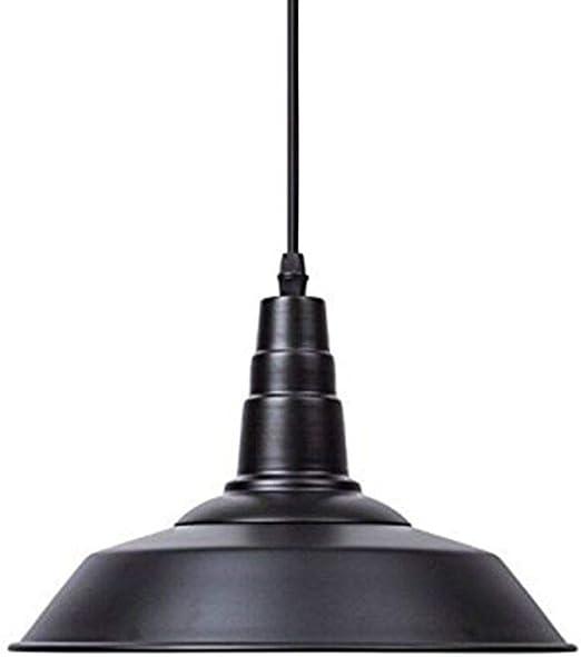 Luz Colgante industrial E27Lantu Creativo Negro Vintage
