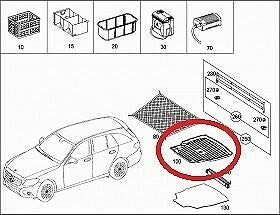 Genuine Mercedes-Benz C-Class ESTATE W205 Shallow Boot Tub Liner A2058140300