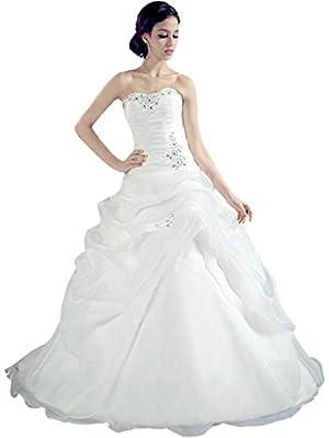 Oailiya Women's Organza Wedding Dress Bridal Gown