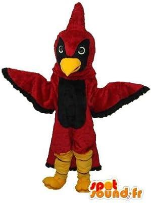 Disfraz de pájaro negro y rojo: Amazon.es: Juguetes y juegos
