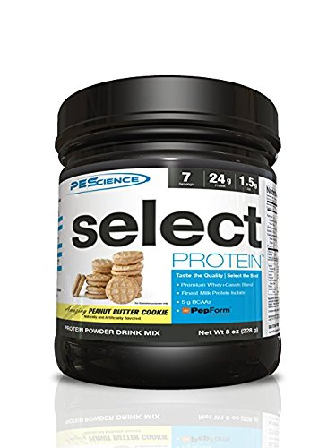 PEScience Select Protein, Peanut Butter Cookie, 7 Serving, Premium Whey and Casein Blend