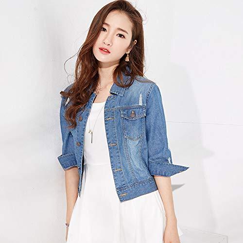 Bleu Denim Zbsport Blouson Femme Bleu1 Jeans Jacket Veste Élégant Classique SfHIRq