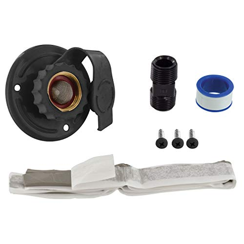 Valterra A01-0175LFVP Black RV Water Inlet Kit (2-3/4