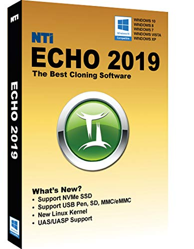 NTI Echo 2019 [On Sale!] The Best Cloning Software. It Simply Works. Make an exact copy of a HDD or SSD, with Dynamic Resizing by Nti