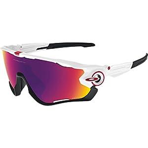Oakley Men's Jawbreaker 0OO9290 Non-polarized Iridium Rectangular Sunglasses, Polished White, 31 mm