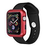 ABASSKY Magnetic Frame Watch Case Protective Cover for Apple Watch Series 4 44mm (Red)