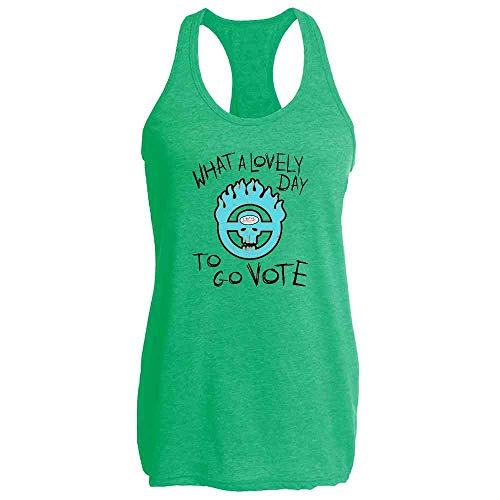 What A Lovely Day to Go Vote Election Heather Kelly M Womens Tank Top -