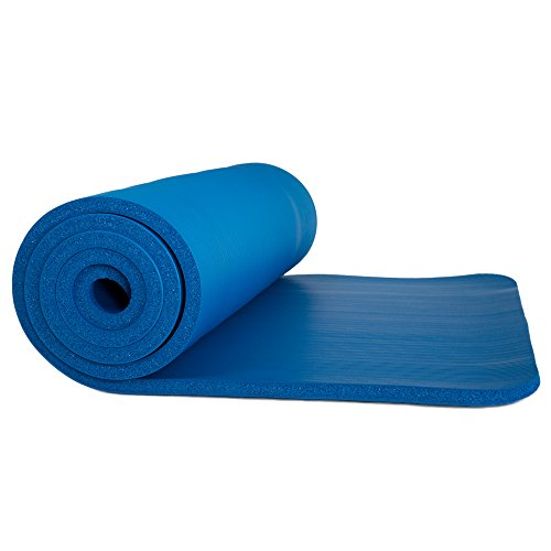 Sleeping Pad, Lightweight Non Slip Foam Mat with Carry Strap by Wakeman Outdoors (Thick Mattress for Camping, Hiking, Yoga and Backpacking)(Dark Blue)
