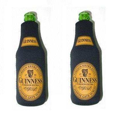 Guinness Extra Stout Beer Bottle Suit Cooler Kaddy Coolie Huggie Set of 2 - Guinness Beer Stout