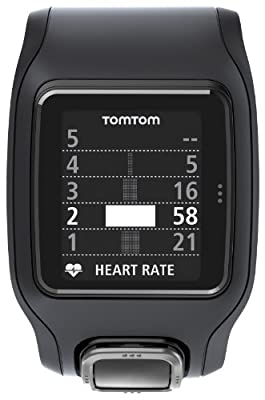TomTom Runner Cardio GPS HR Watch - black/black, one size