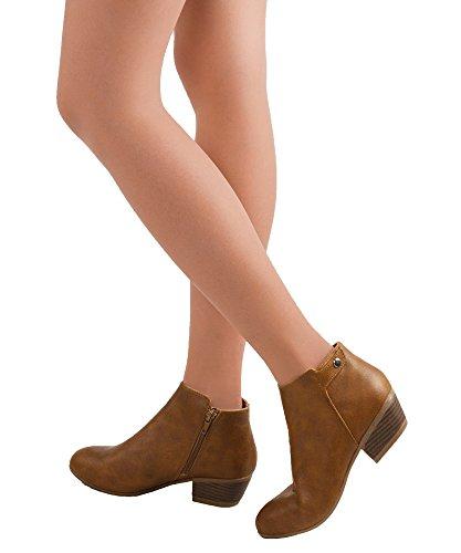 RF RAUM DER MODE Dolce-31 Tailored Vegan Suede Side Reißverschluss Mandel Toe Low Kitten Heel Ankle Bootie Stiefel Schwarzes Wildleder