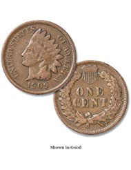 1909 U.S. Indian Head Cent/Penny Coin Penny Circulated
