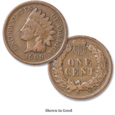 1909 U.S. Indian Head Cent / Penny Coin Penny Circulated