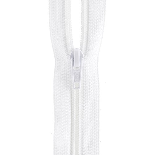 "Coats: Thread & Zippers F7222-WHT All-Purpose Plastic Zipper, 22"", White"