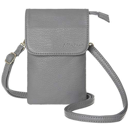 MINICAT Roomy Pockets Series Small Crossbody Bags Cell Phone Purse Wallet For Women(Gray)