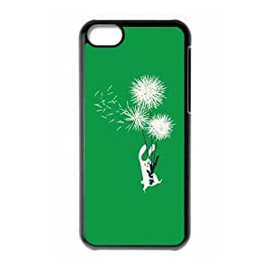 Bunny and Dandelion iPhone 5c Cell Phone Case Black HX4456532