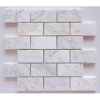 quality beveled subway tile   Bianco Venatino Marble 3 X 6 Deep-Beveled & Polished ...