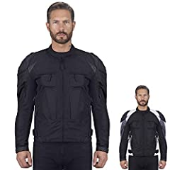 The Viking Cycle Asger Black Motorcycle Jacket for men provides full protection with our superior & quality armor system and external panels. This jacket is fully breathable, has zippered vents, and offers a high level of visibility with ...