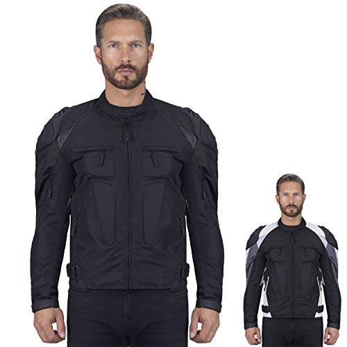 Viking Cycle Asger Motorcycle Jacket for Men (Medium, Black) (Best Motorcycle Riding Jackets In India)
