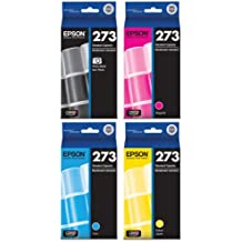 Genuine Epson 273 Color (Photo Black/Cyan/Magenta/Yellow) Ink Cartridge 4-Pack (Includes 1 each of T273120, T273220,T273320,T273420) for Epson Expression XP-600/800 and Epson Expression Premium XP-610/810 printers