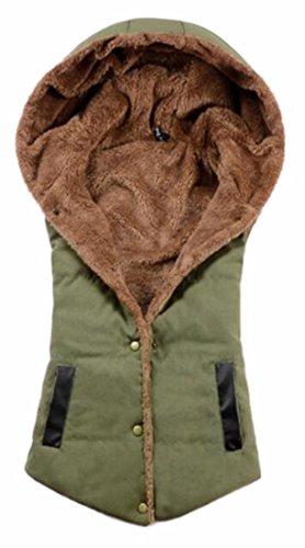 Hooded Jacket TTYLLMAO Lined Coat 2 Fleece Vest Sleeveless Womens Winter 600qwvnX
