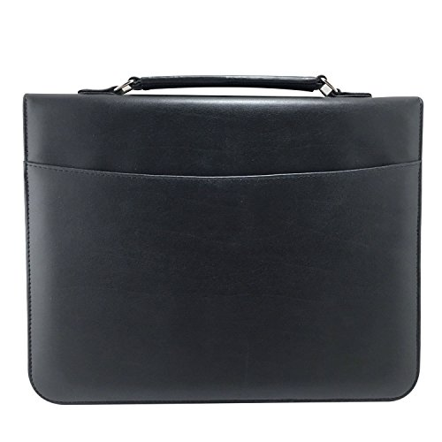Portfolio Briefcase - MSP Sale Presentation Briefcase | Portfolio with Binder Pockets,Smart Handle, Zipper Closure for Sales Professional and Students (Black-045)