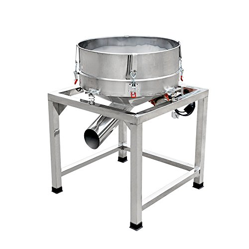 Sieve Food - ECO-WORTHY Automatic Sifter Shaker Machine Powder Vibrating Food Industrial Stainless Steel Sieve 110V (2 Screens Included)