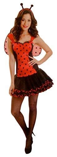 Sexy Science Geek Bug Lover Halloween Costume - Lady Bug and Bumble Bee - Women's Small Medium (Lady Bug) - Adult Lady Bug Costumes