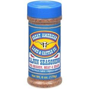 Great American Land & Cattle Cajun Seasoning 6oz Container (Pack of 3) by Great American Land & Cattle