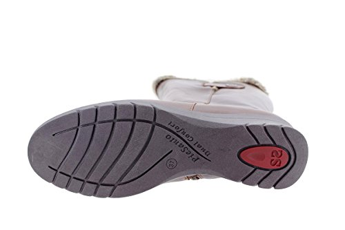 Xl Botte Mollet Confort Chaussure Large Cuero Femme 175980 Cuir tan En Piesanto B1Yxnn