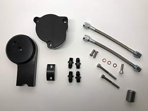 Yamaha V-Star 1100 Anodized Black Oil Filter Relocation Kit Extension - Filter Oil V-star 1100