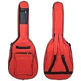 FidgetKute 1x 41 Thick Cotton Electric Guitar Gig Bag Soft Case Double Strap sfd