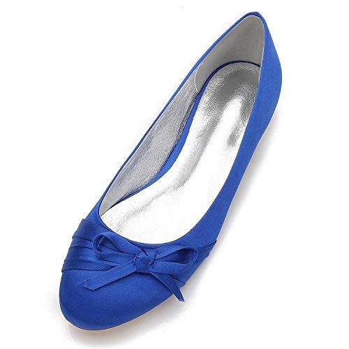 Nupcial De Pajarita F5049 Redonda Blue Mujeres De Cerrado YC Las Punta De TamañO Gran 15 Partido Boda Zapatos La L Cwx7SXqpS