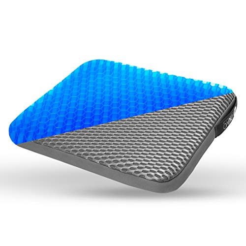 NUVO ACS Gel Seat Cushion - Relieves Sciatica Back Pain -for Office Chair, Wheelchair, Home - Enhanced Luxury Chair Pad Comfort Honeycomb Design Absorbs Pressure Gel Seat Cushion (16141.5 inch)