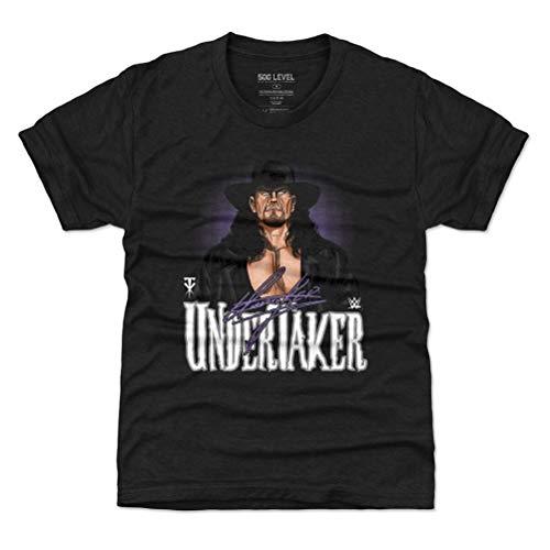 500 LEVEL Undertaker Youth Shirt (Kids Shirt, Small (6-7Y), Tri Black) - WWE Boys Clothes - Undertaker Comic WHT