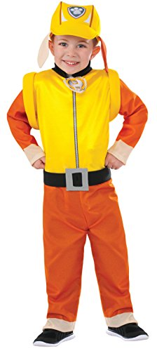 Rubie's Costume Paw Patrol Rubble Value Child Costume, Small (Paw Patrol Costume Halloween)