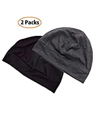 EINSKEY Cotton Beanie Hat Summer Skull Cap for Sleep Chemo Hair Loss - 2 Packs