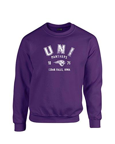 NCAA Northern Iowa Panthers 50/50 Blended 8 oz. Crewneck Sweatshirt, Pu XL