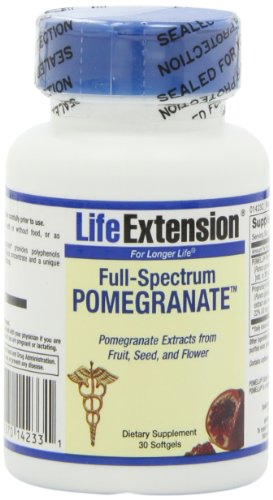 Life Extension Full-spectrum Pomegranate, Softgels, 30-Count, Health Care Stuffs