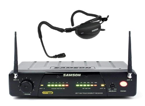 Samson AirLine 77 Fitness Head Worn Wireless Microphone System, Frequency N1 - 642.375 MHz MHz