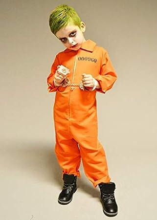 Magic Box Disfraz de convicto Naranja Estilo Joker para niños ...