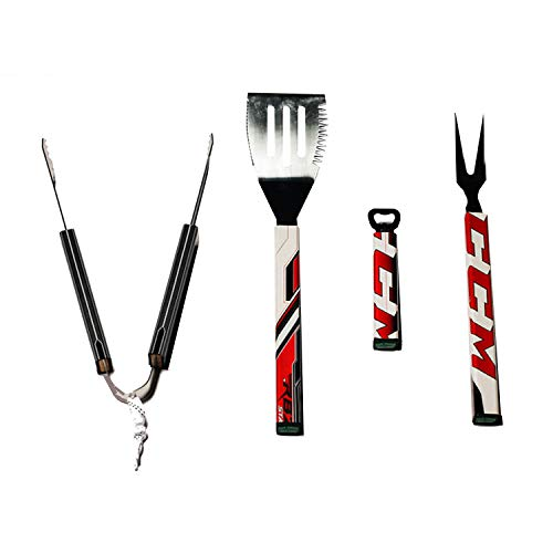 - Requip'd 4 Piece Stainless Steel Hockey BBQ Set